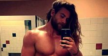 Brock O'Hurn perfects the man bun