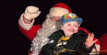 Town in Ontario celebrates Christmas early for 7 year old Evan