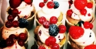Recipe: blueberry and raspberry cup cakes