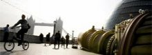 Telectroscope links London with New York