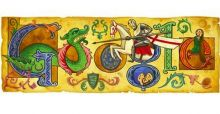A Google Doodle to celebrate St. George's Day 2013
