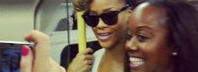 Rihanna travels to her O2 show on the tube