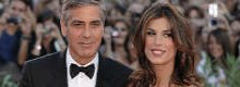 Clooney learning Italian from Canalis