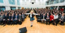 Pixie Lott treats lucky students to intimate performance