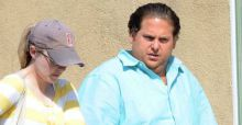 Jonah Hill pictured looking a lot heavier for his latest Hollywood role