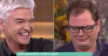 Alan Carr and Phillip Schofield face off in a drinking competition LIVE on This Morning