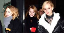 Power Trio Adele, Jennifer Lawrence and Emma Stone have a girls night out in Manhattan