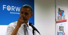 Obama gets emotional during thank you speech - Video