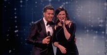 Idina Menzel and Michael Buble perform Baby It's Cold Outside on X Factor Semi Final VIDEO