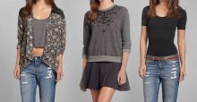 Women's shirts, jerseys and coats by Abercrombie and Fitch for this autumn winter
