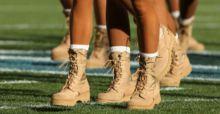 Military style fashion boots