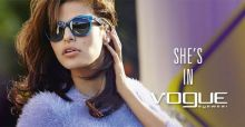 Vogue Eyewear glasses campaign for autumn winter 2014 2015 with Eva Mendes