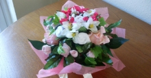 Fabulous baby clothes bouquets as gifts