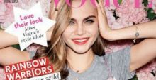 Cara Delevingne featured on the cover of Miss Vogue