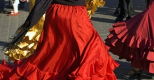 Combine maxi skirts for a great style
