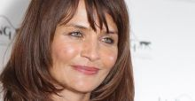 Helena Christensen  strips for photoshoot