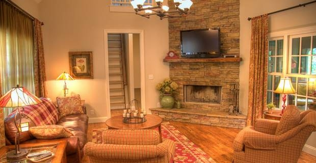 Decorate living room country style the best on home by for Country style family room ideas