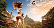 World Cup inspired sexy pin up soccer 2014 calendar