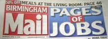 Using the Evening Mail in Birmingham to find jobs