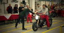 First  2014 Ducati Monster 1200 rolls off the production line