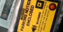 World's first audio parking ticket warns motorists not to park illegally