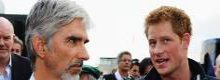 Prince Harry meets Damon Hill at Grand Prix