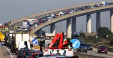 Sheppey crossing bridge in Kent reopens after record pile-up