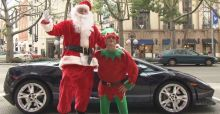 Lamborghini Gallardo and Santa Claus in LA
