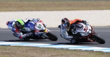 Eugene Laverty and Sylvain Guintoli win  WSBK 2014  season opener at Phillip Island