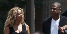 Jay Z and Beyonce appear at Justice for Trayvon rally