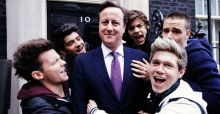 Cameron and One Direction get together for Comic Relief