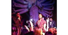 Kanye West and 2 Chainz perform at Leonardo di Caprio's 39th birthday party