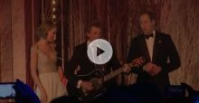 Prince William, Taylor Swift and Jon Bon Jovi sing together 'Livin' On A Prayer' - Video