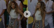 Jennifer Lopez shoots World Cup 2014 video We Are One with Pitbull - Video
