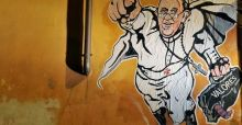 Pope Francis from people's pope to superhero graffiti