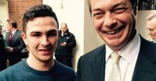 Chelsea fan identified from racist metro footage posed with Nigel Farage