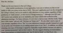 Harvard rejection letter goes viral despite it being fake