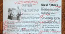 English teacher makes myriad corrections on Ukip election flyer