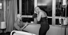 Man proposes to high school sweetheart right before her final chemotherapy session
