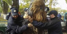 Chewbacca has been arrested in Ukraine while campaigning for Darth Vader