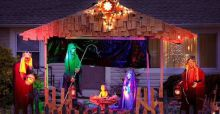 Nativity Scene with a Zombie Twist not welcomed in a U.S Neighborhood