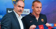 Jeremy Mathieu new Barcelona player images