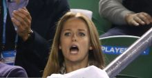 Andy Murray's fiancée Kim Sears caught swearing at Australian Open Semi-Final
