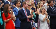 Kate Middleton looks stunning in red dress at Wimbledon quarter-final