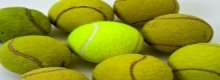 Use a tennis ball machine and improve your game