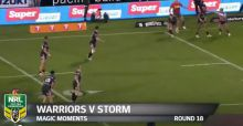 Amazing rugby play in New Zeland   Warriors vs Storm