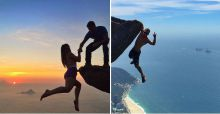 Cliffhanging Brazilian couple photos that will make your heart stop