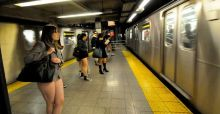 Thousands take part in the No Pants Subway Ride 2014